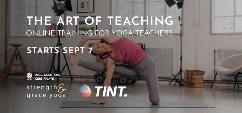 Online yoga teacher training course with TINT Yoga
